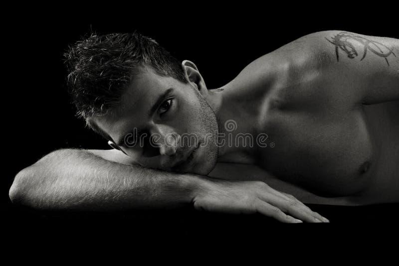 Homem despido 'sexy' imagens de stock