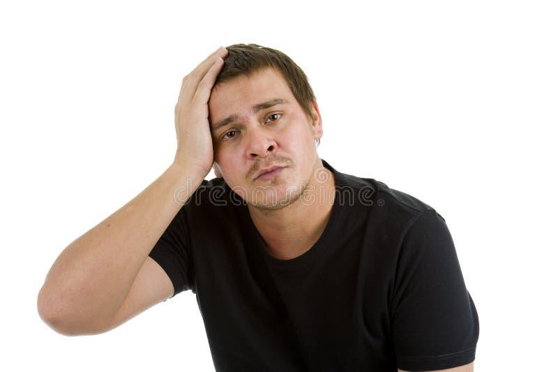 Homem Disappointed, triste imagem de stock