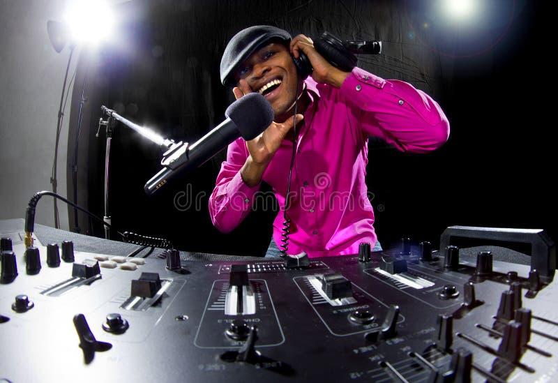 Homem DJ imagem de stock royalty free