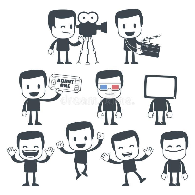 Homem do ícone ilustração stock