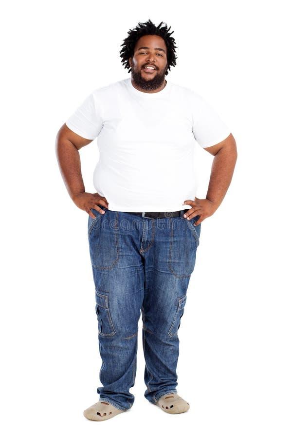 Homem do africano do excesso de peso