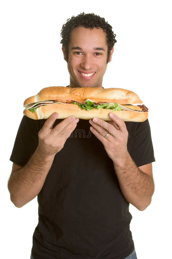Homem do alimento imagens de stock