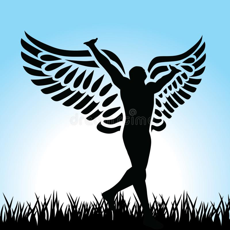 Homem do anjo ilustração royalty free