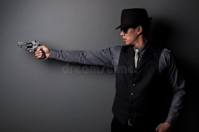 Homem do assassino e da máfia fotografia de stock