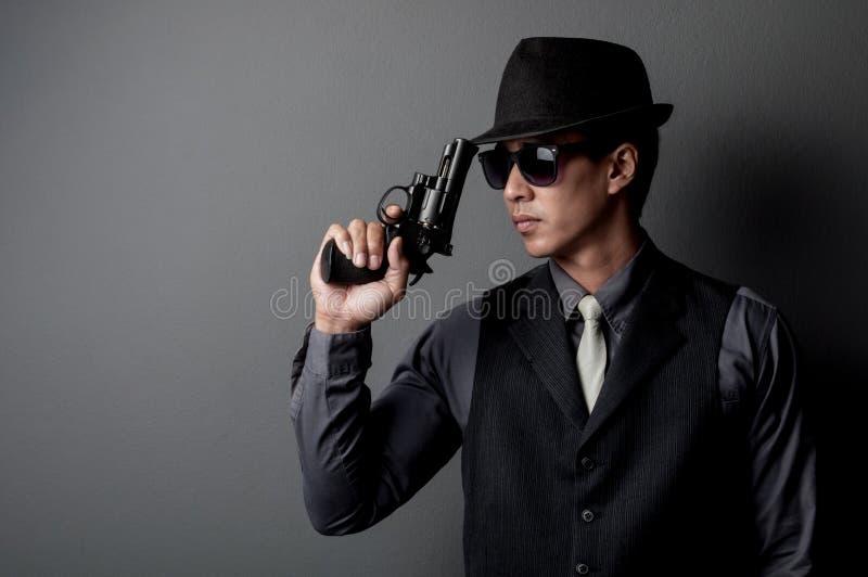 Homem do assassino e da máfia imagens de stock