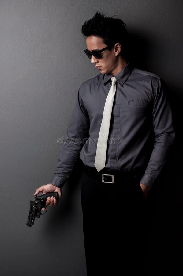Homem do assassino e da máfia imagem de stock royalty free