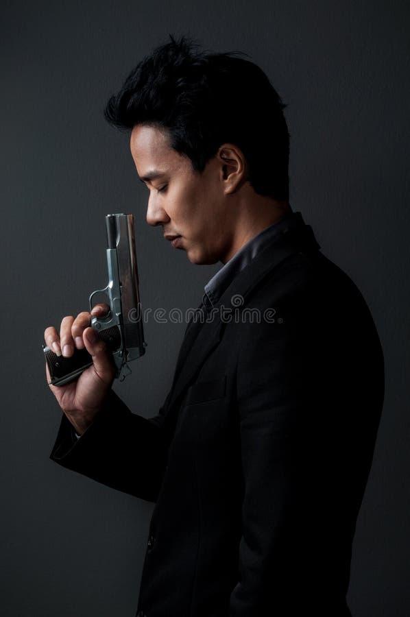 Homem do assassino e do espião fotos de stock