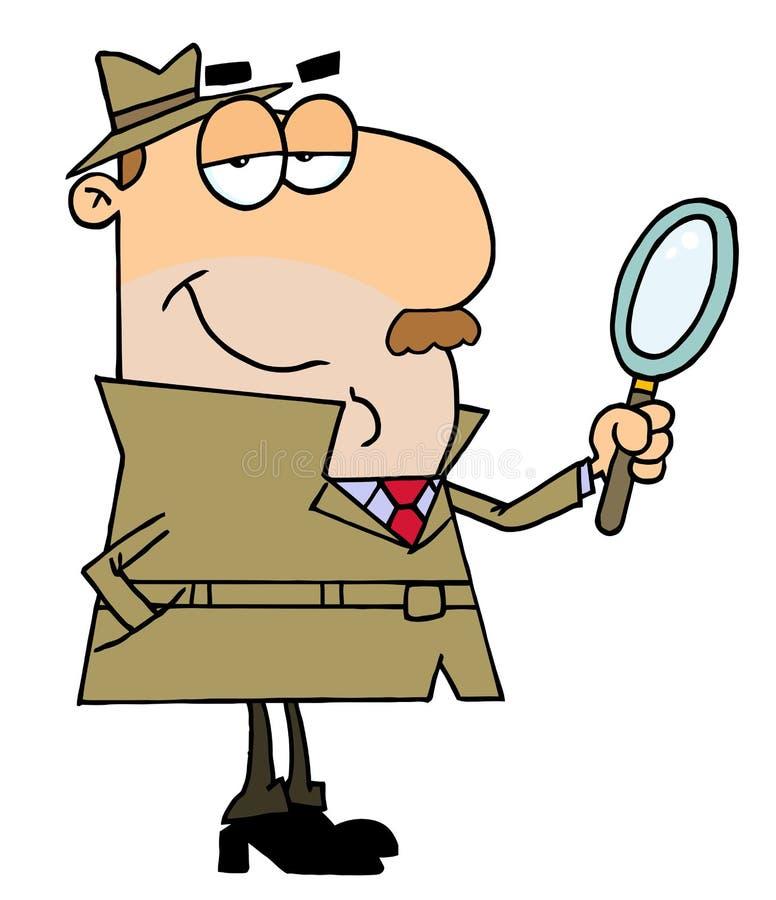 Homem do detetive ilustração do vetor