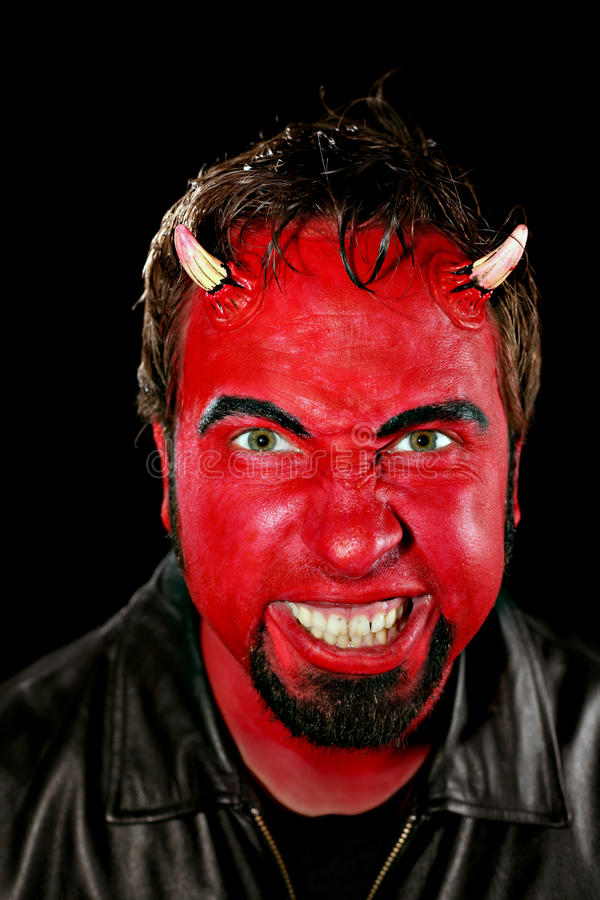 Homem do diabo fotos de stock