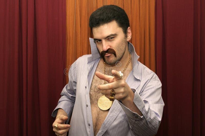 Homem do disco fotografia de stock royalty free