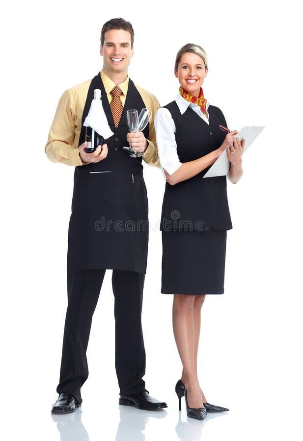 Homem do empregado de mesa fotografia de stock
