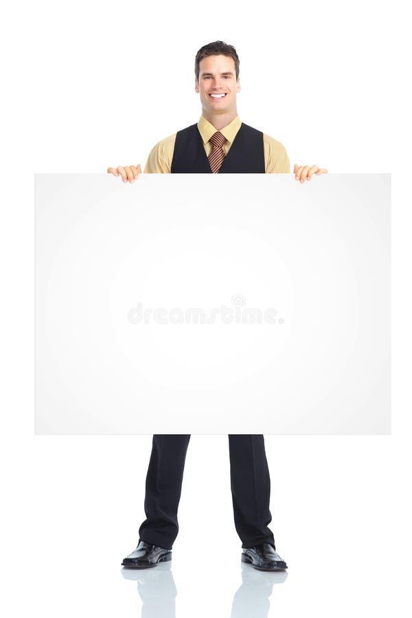 Homem do empregado de mesa. foto de stock royalty free
