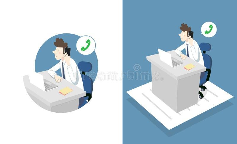 Homem do escritório de OT ilustração stock