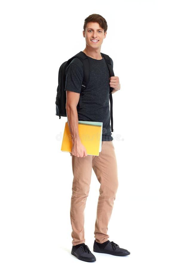 Homem do estudante fotografia de stock