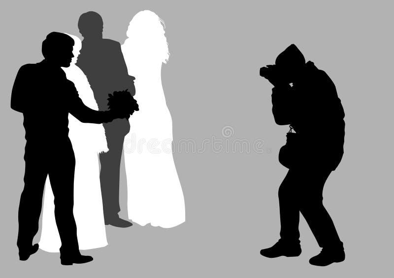 Homem do fotógrafo do casamento ilustração royalty free