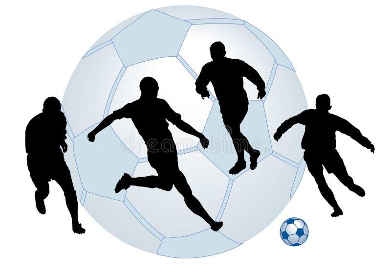 Homem do futebol ilustração royalty free