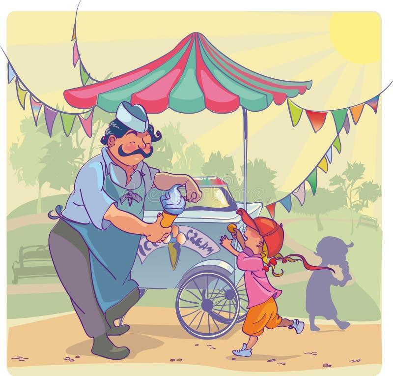 Homem do gelado ilustração royalty free