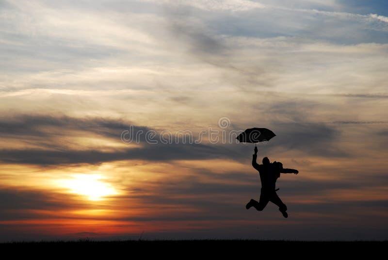 Homem do guarda-chuva foto de stock royalty free