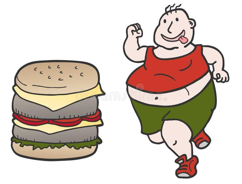 Homem do hamburguer ilustração do vetor