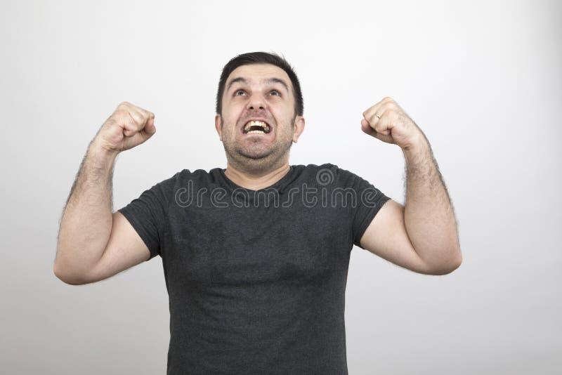Homem do humor fotos de stock royalty free