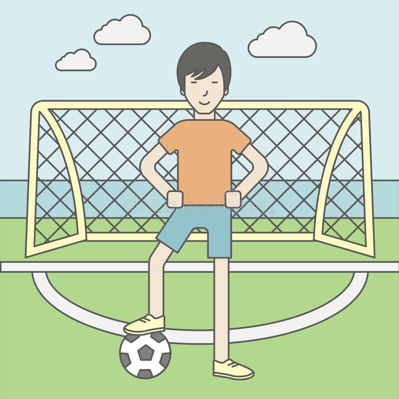 Homem do jogador de futebol ilustração do vetor