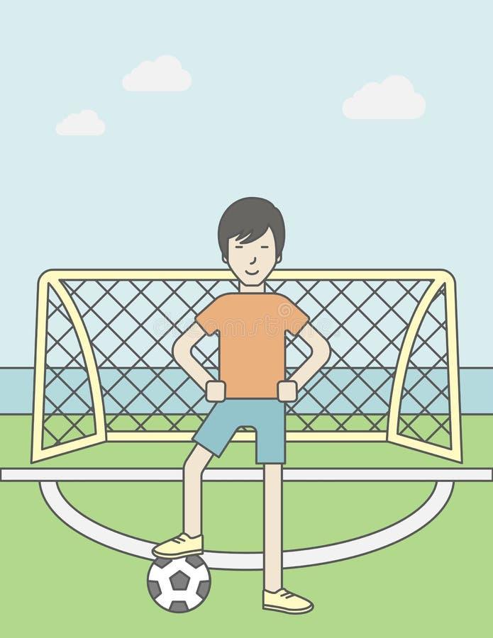 Homem do jogador de futebol ilustração stock