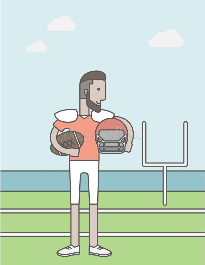 Homem do jogador do rugby ilustração royalty free