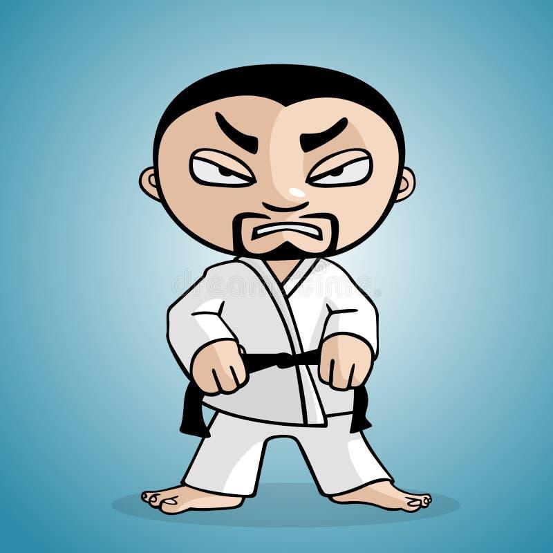 Homem do karaté ilustração stock