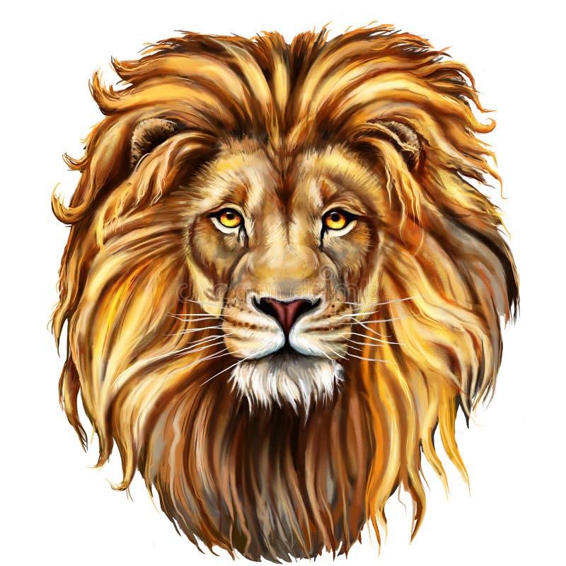 Homem do leão, aslan ilustração stock