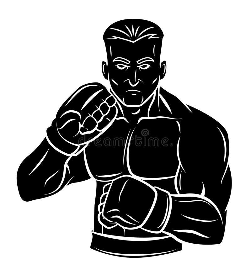 Homem do lutador ilustração royalty free