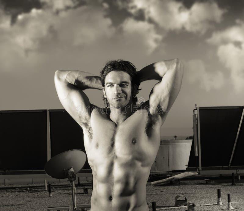 Homem do músculo da fantasia foto de stock royalty free