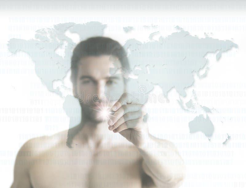 Homem do mundo imagem de stock