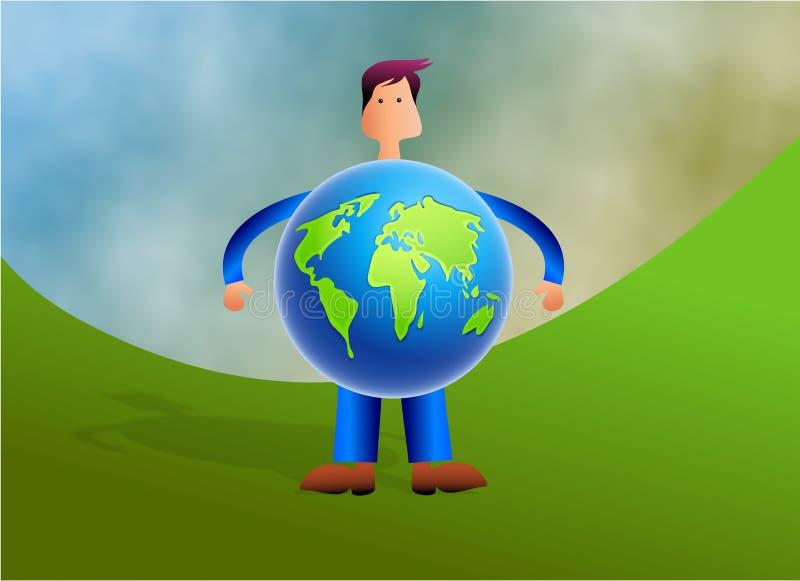 Homem do mundo ilustração stock