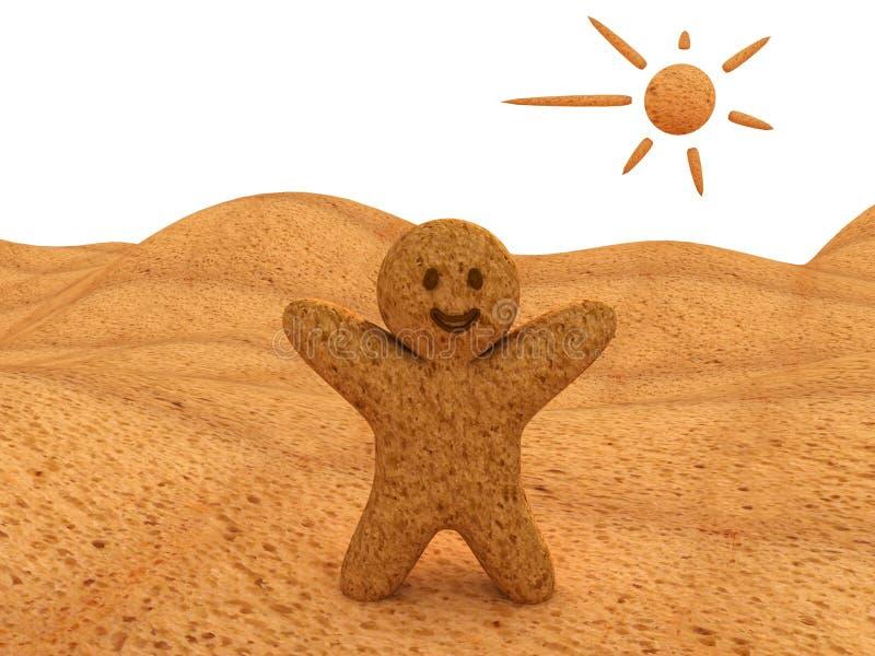Homem do pão ilustração do vetor