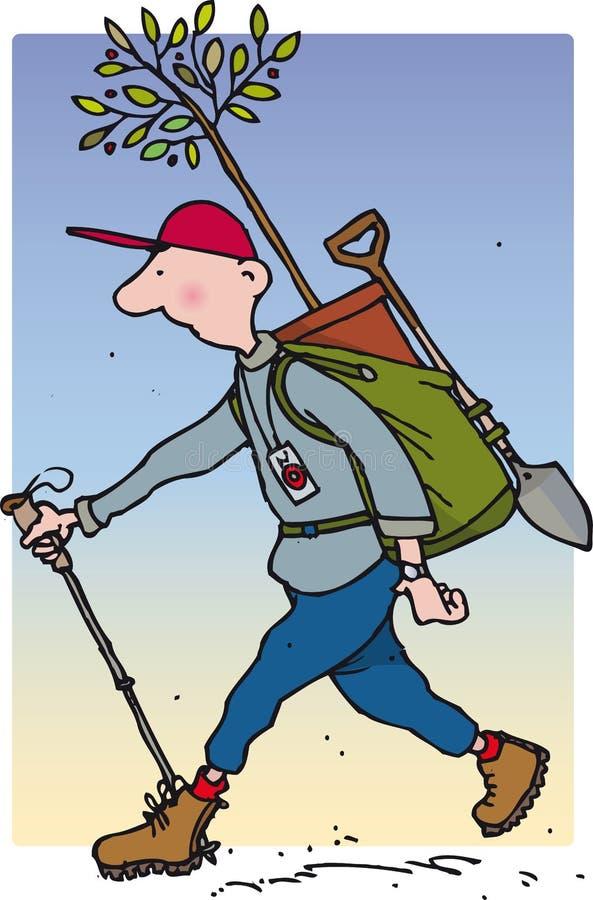 Homem do plantador ilustração do vetor