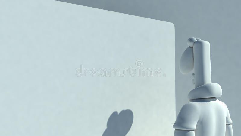 Homem do Plasticine ilustração stock