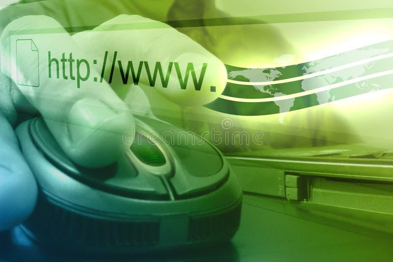 Homem do rato do Internet do computador ilustração do vetor
