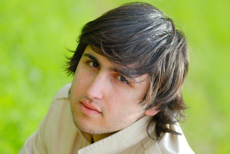 Homem do retrato, Cáucaso foto de stock