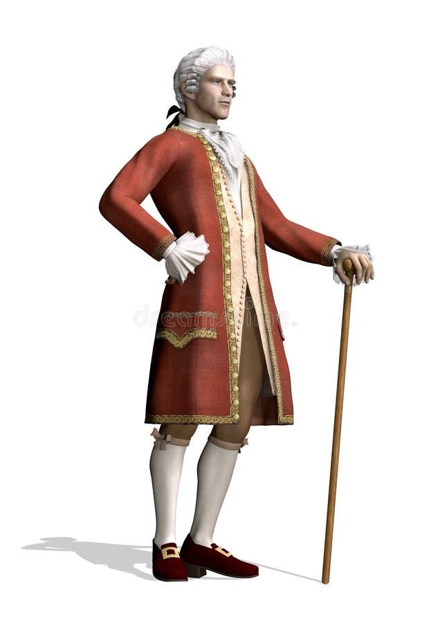 Homem do século XVIII ilustração do vetor