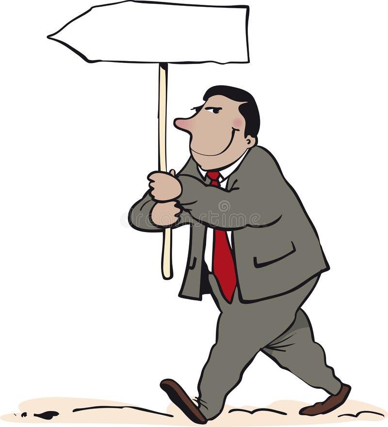 Homem do sinal ilustração royalty free