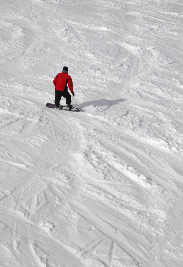 Homem do Snowboard imagens de stock
