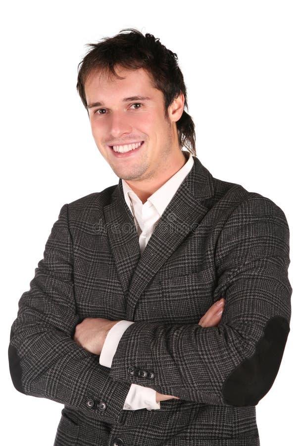 Homem do sorriso fotografia de stock royalty free