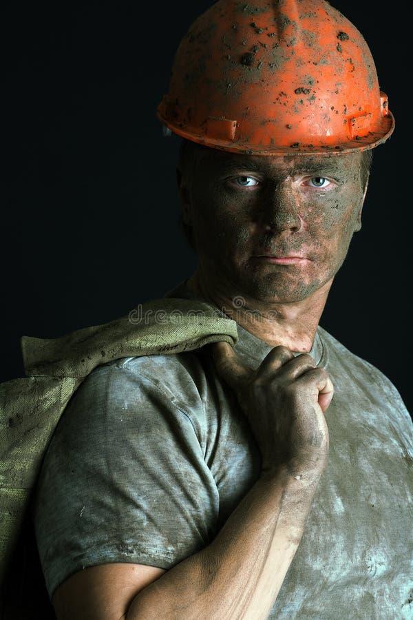 Homem do trabalhador do retrato do Close-up imagens de stock royalty free