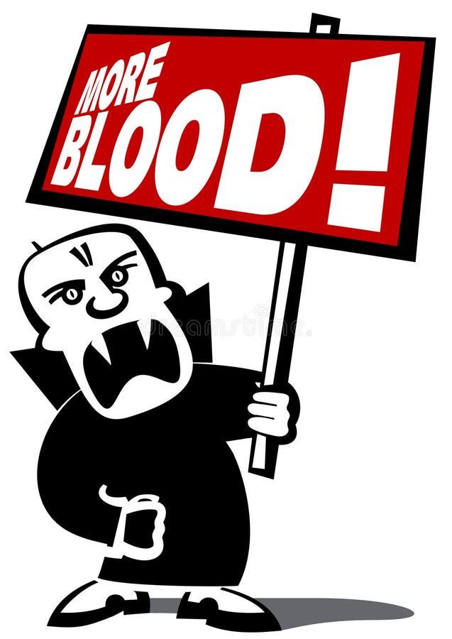 Homem do vampiro do protesto fotos de stock royalty free