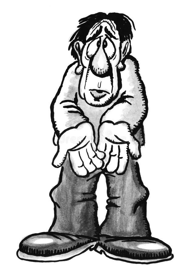 Homem dos desenhos animados ilustração royalty free