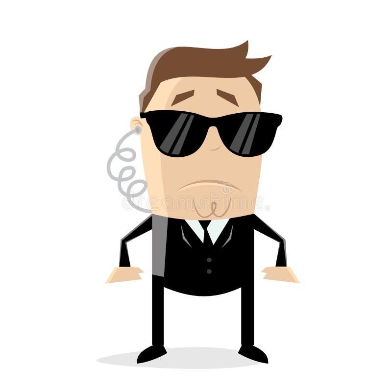 Homem dos desenhos animados do agente secreto ilustração royalty free
