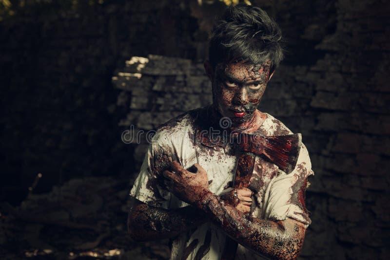 Homem dos zombis imagens de stock