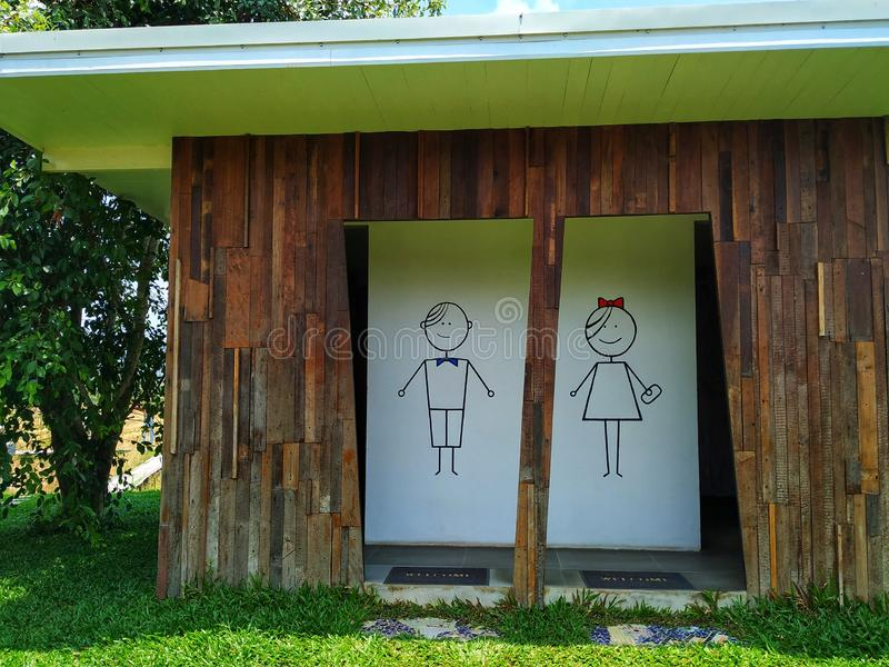 Homem e banheiro fêmea do estilo imagem de stock royalty free
