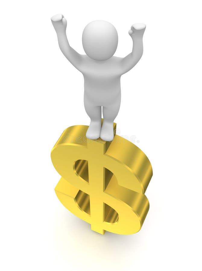 Homem e dólar ilustração do vetor