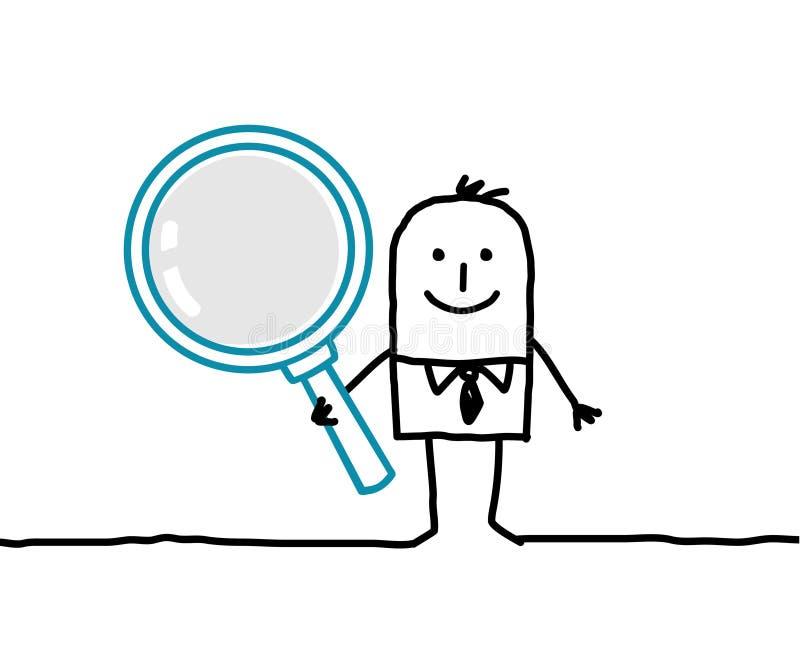 Homem e lupa ilustração do vetor